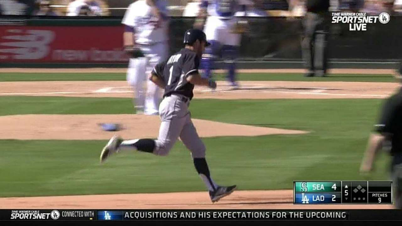 Taylor shows surprising power early in shortstop battle