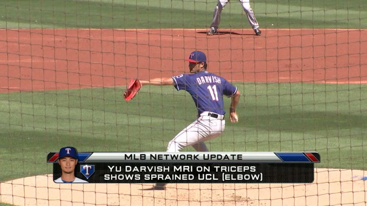 Darvish has UCL sprain