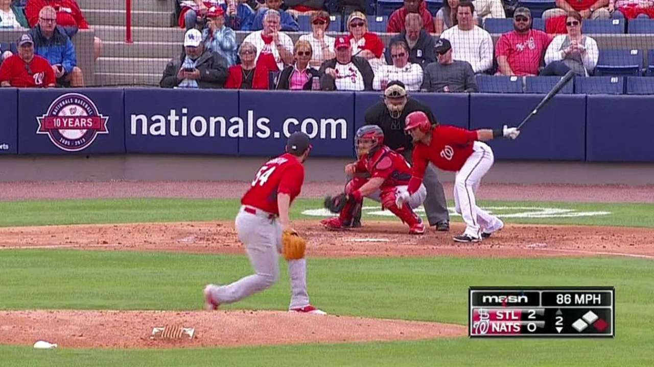 Garcia makes return to hill vs. Nationals; Grichuk flashes power