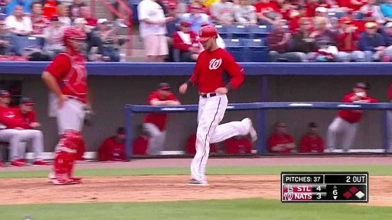 Strasburg gets work in before Nats top Cards with big 6th