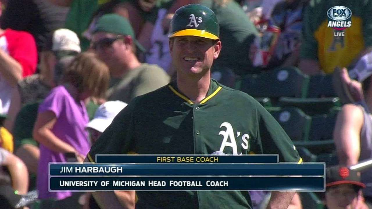 First Base Coach For A's