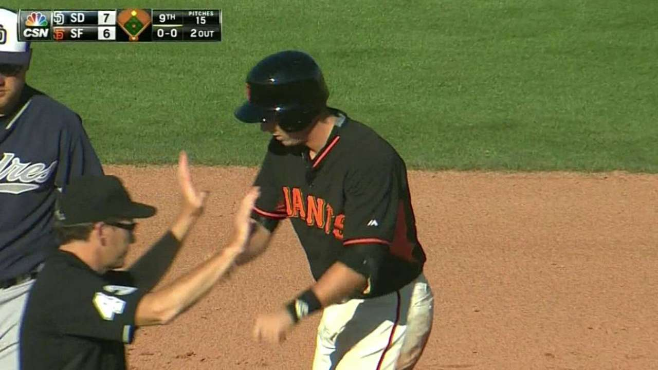 Bumgarner allows two runs in two innings vs. Padres