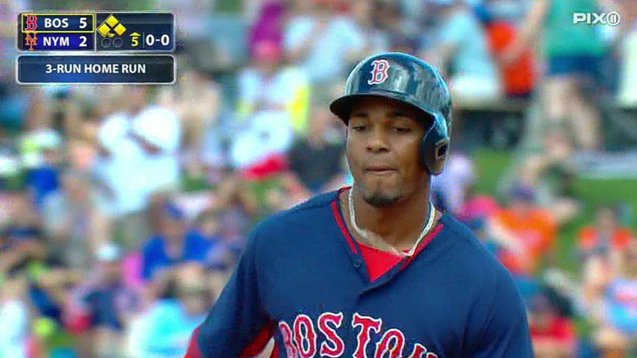 Bogaerts drives in four, Porcello sharp as Red Sox top Mets