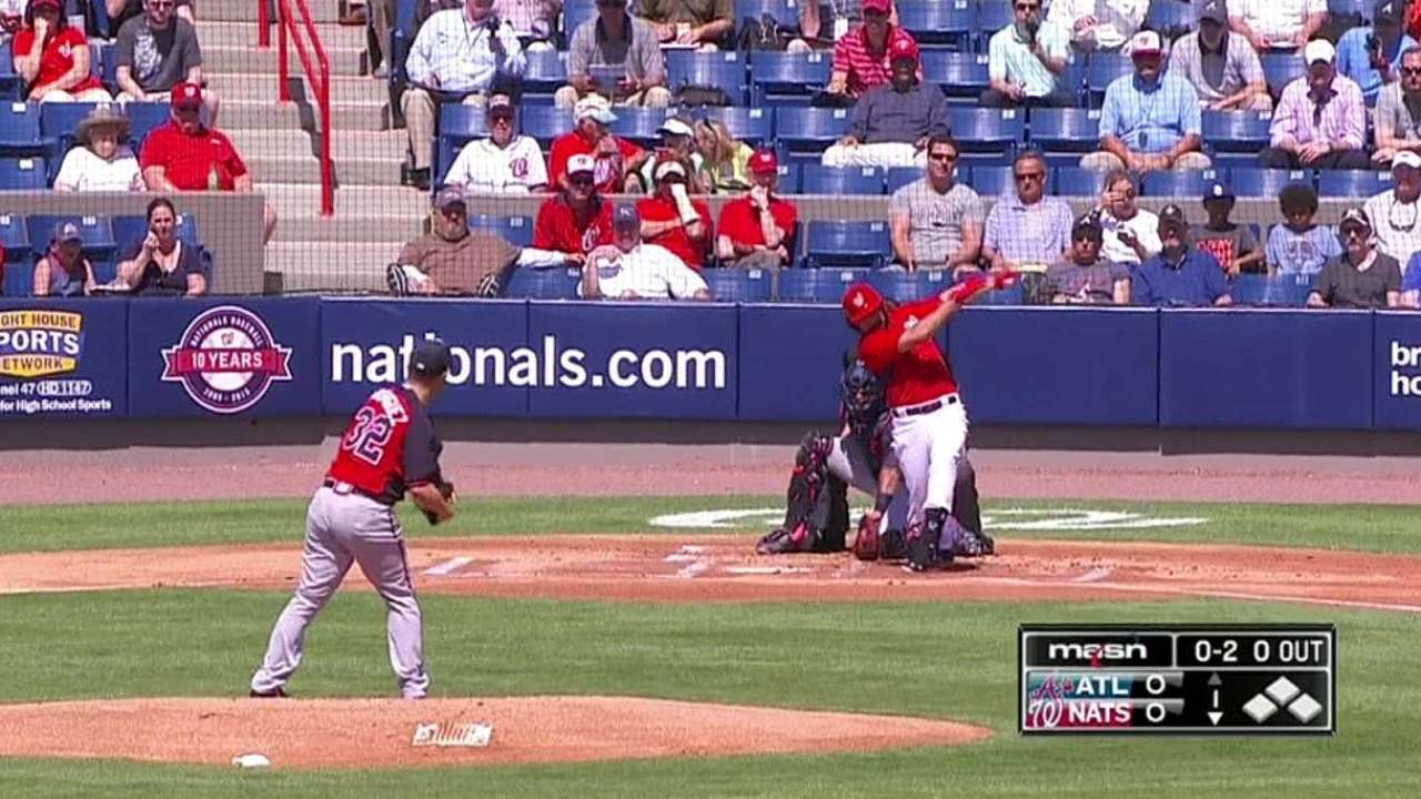 Rodriguez's first strikeout