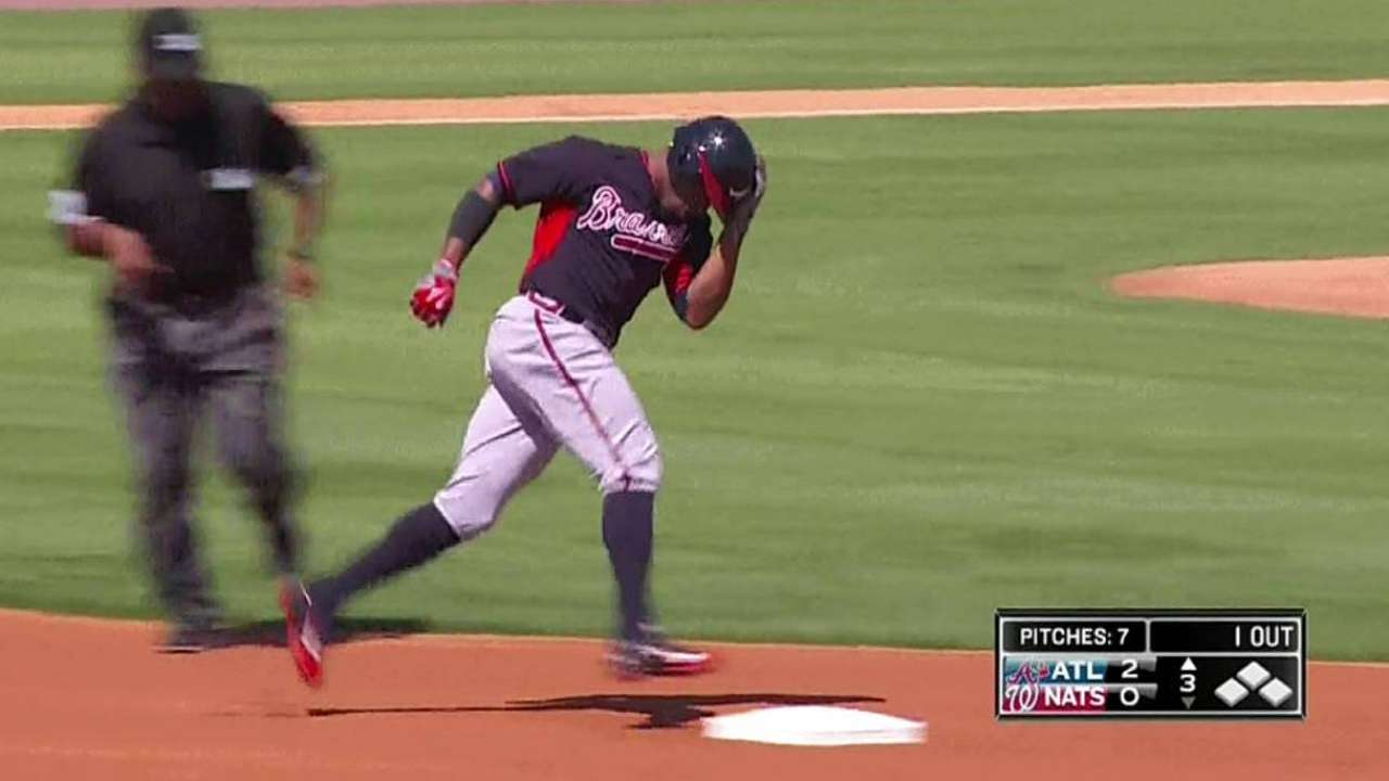 Young's homer, Wandy's arm vault Braves over Nats