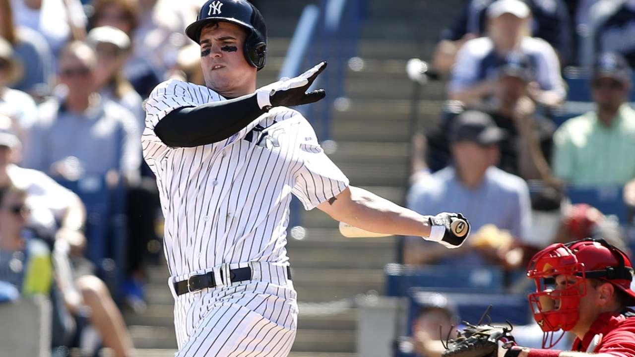 Prospect Austin among Yankees optioned