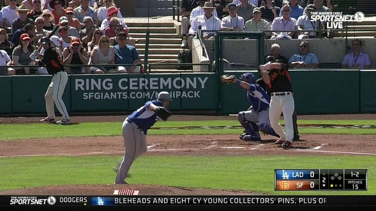Anderson's Dodgers debut