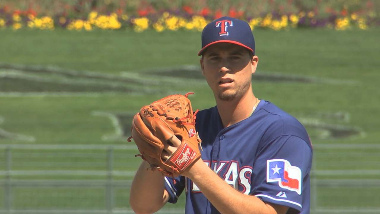 Gonzalez remains mystery man in Rangers' rotation battle