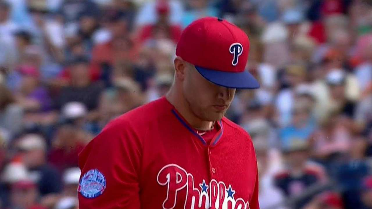 Phillies call up Rosin from Triple-A to help bullpen