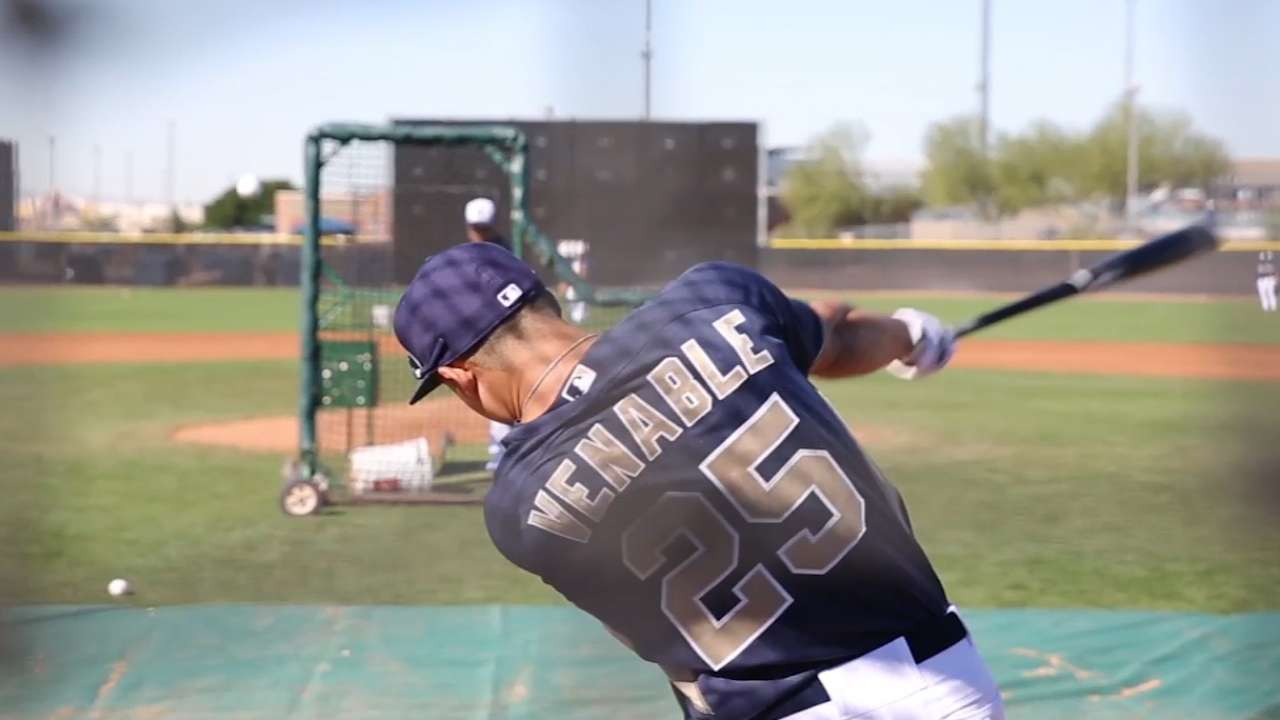 Venable on board with Padres' roster shakeup