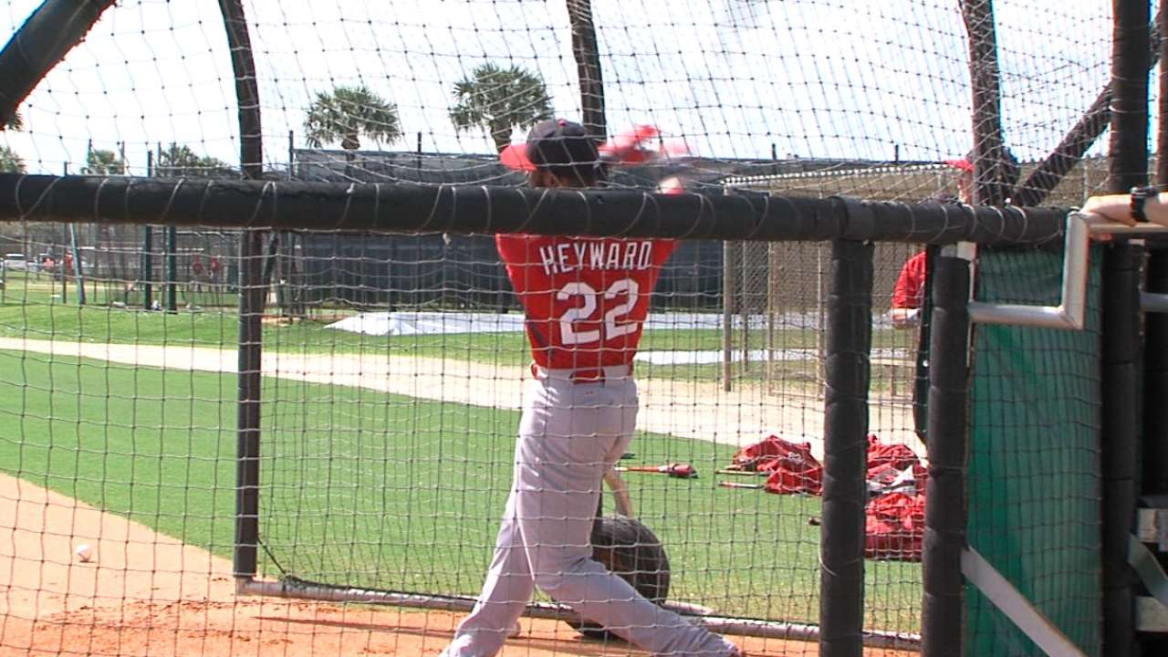 Matheny wants Heyward's power to fill two-hole