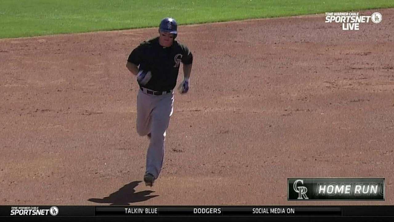 Hundley homers, Butler shines vs. Dodgers