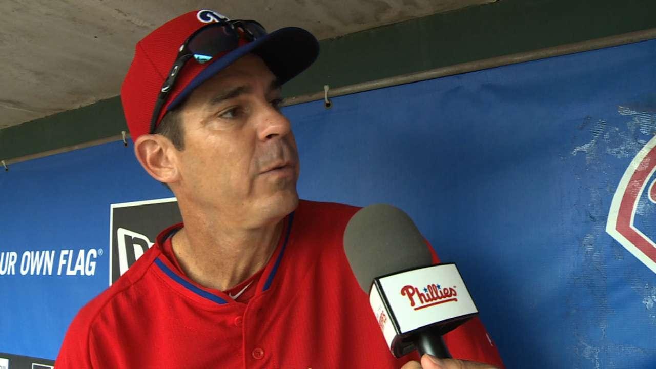 Bean talks acceptance in Phillies camp