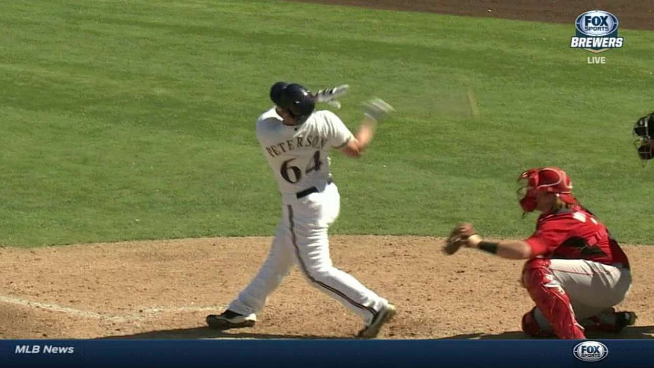 Peterson's two-run shot