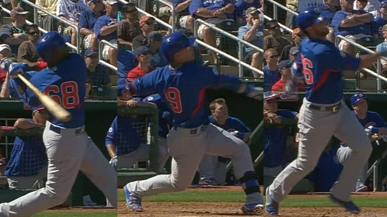 Soler, Baez, Bryant put on show with back-to-back-to-back HRs