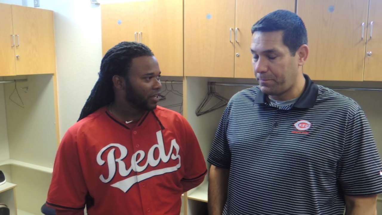 Cueto back at camp; return to mound imminent