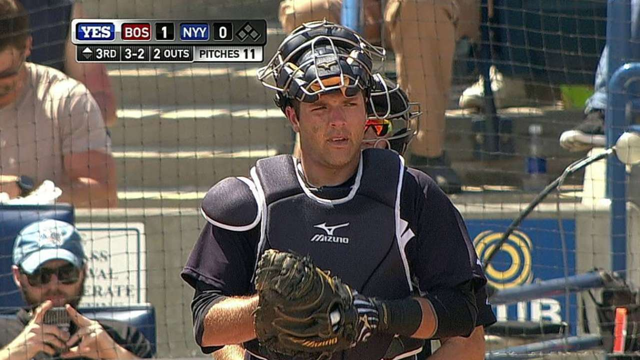 Romine clears waivers, Yanks outright catcher