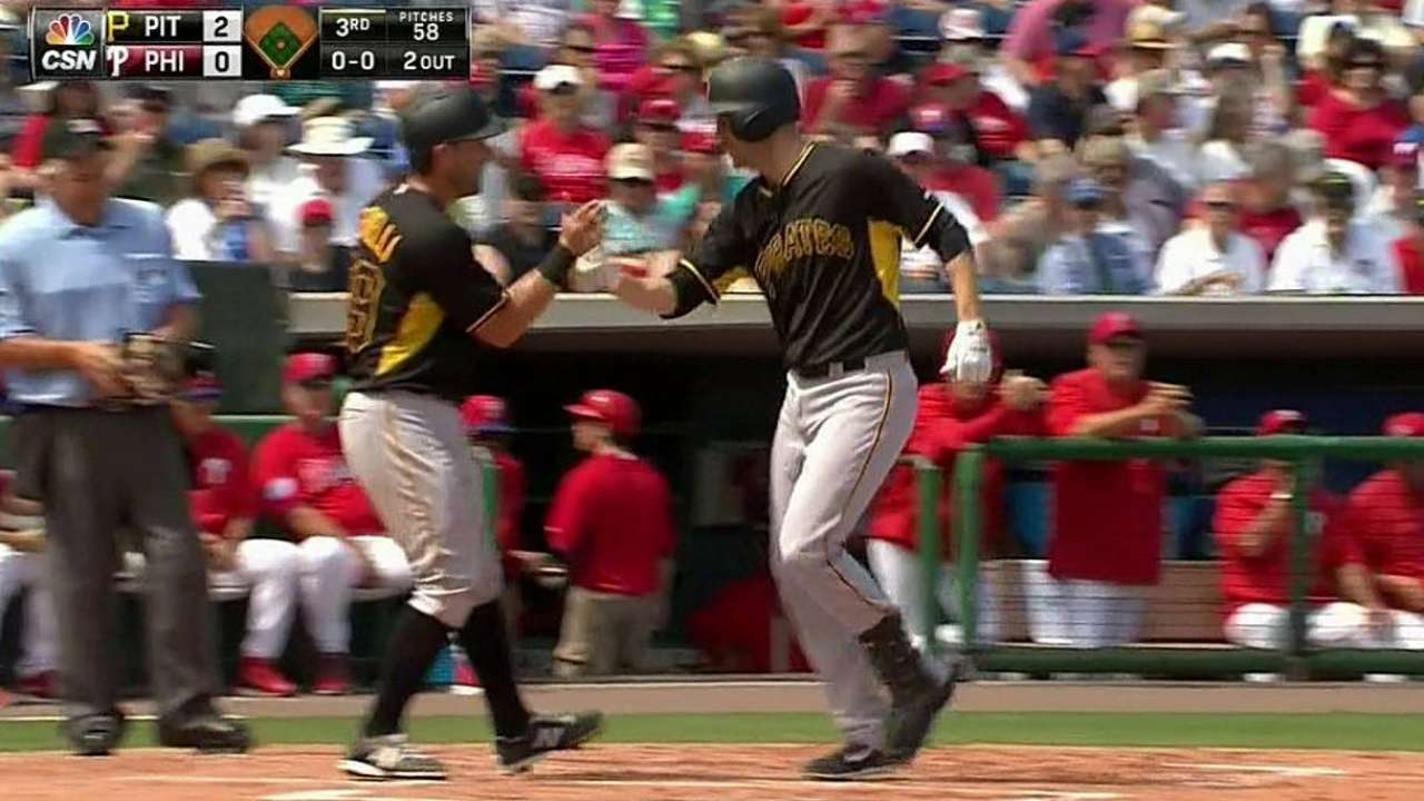 Mercer mashes one, but Bucs edged by Phillies