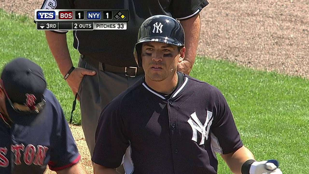 Ellsbury sits out with 'mild' abdominal strain