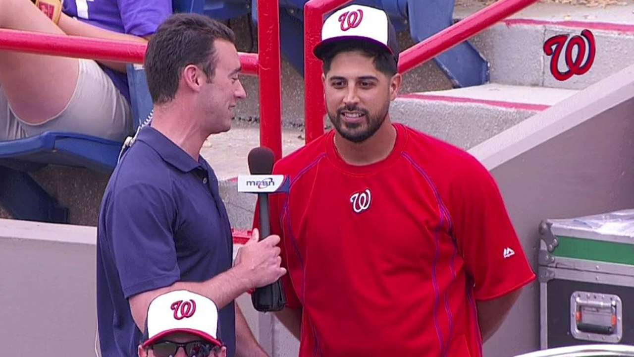 Healthy Gio in high spirits, having fun with Nationals