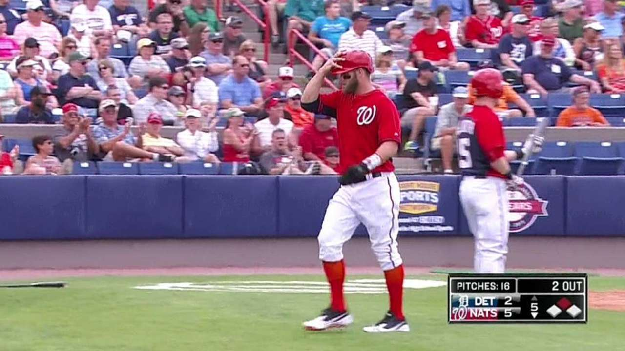 Moore hot at plate, but future with Nationals uncertain