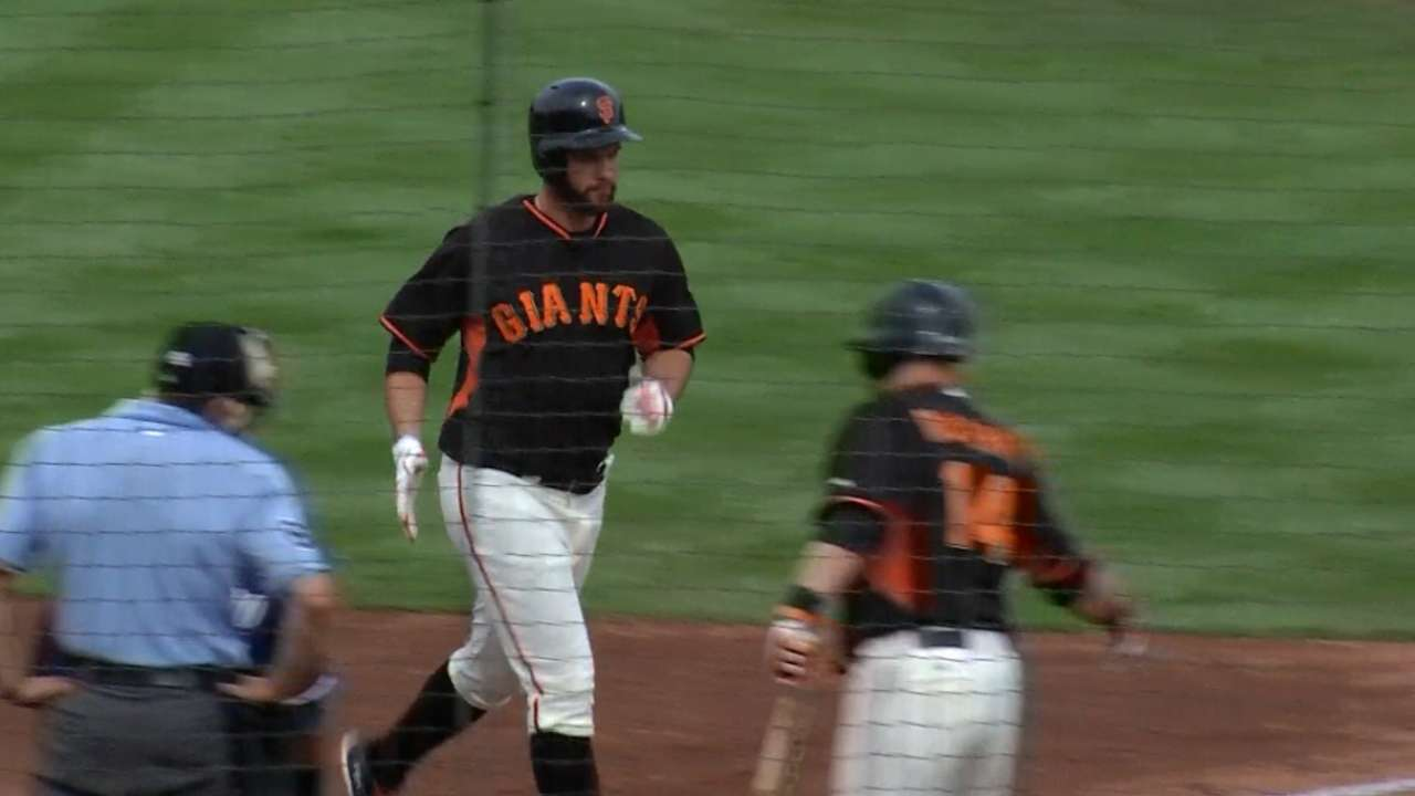 Belt launches first home run of Spring Training