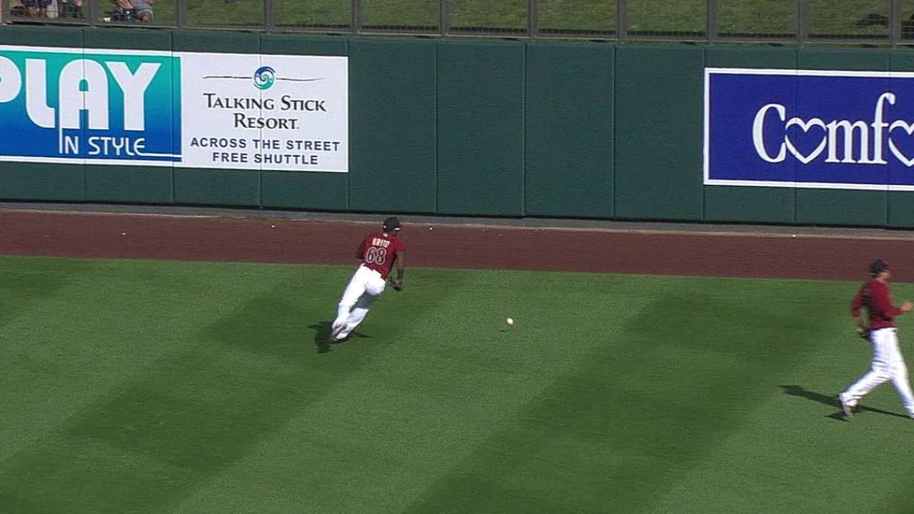 Joyce's strong spring continues against D-backs