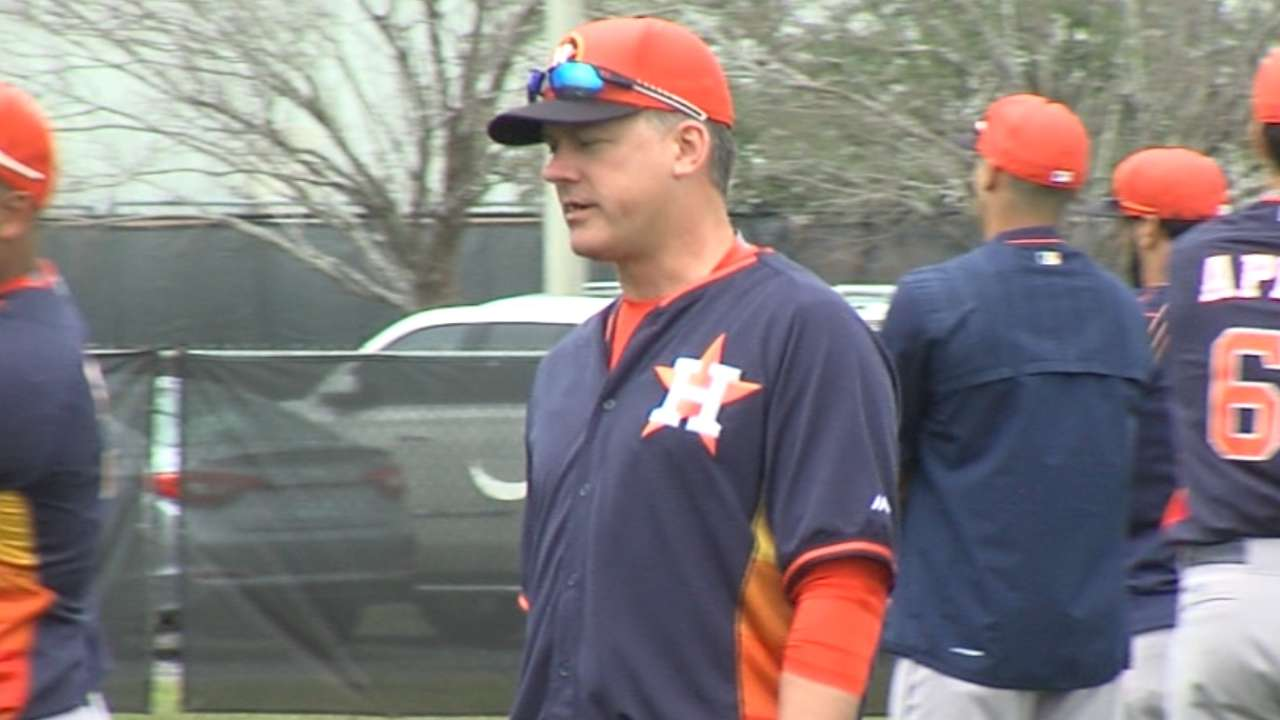 Astros' nucleus provides Hinch positive starting point