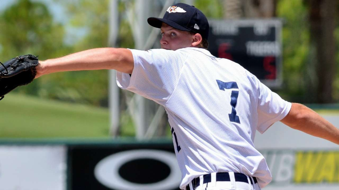 Tigers' Kubitza tosses four hitless innings in AFL