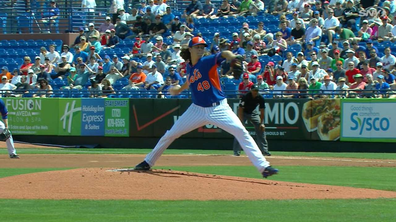 deGrom's five strikeouts