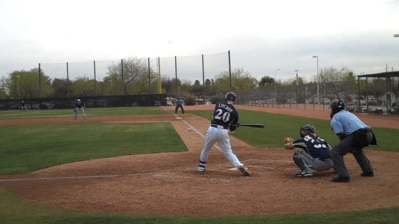 Lucroy's steady improvement great news for Crew