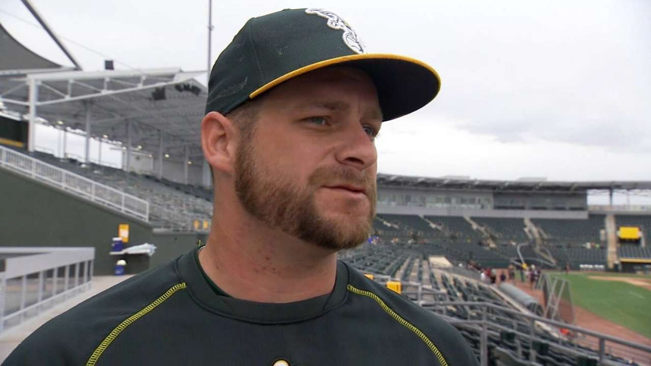 Vogt embraces opportunity to start for new-look A's