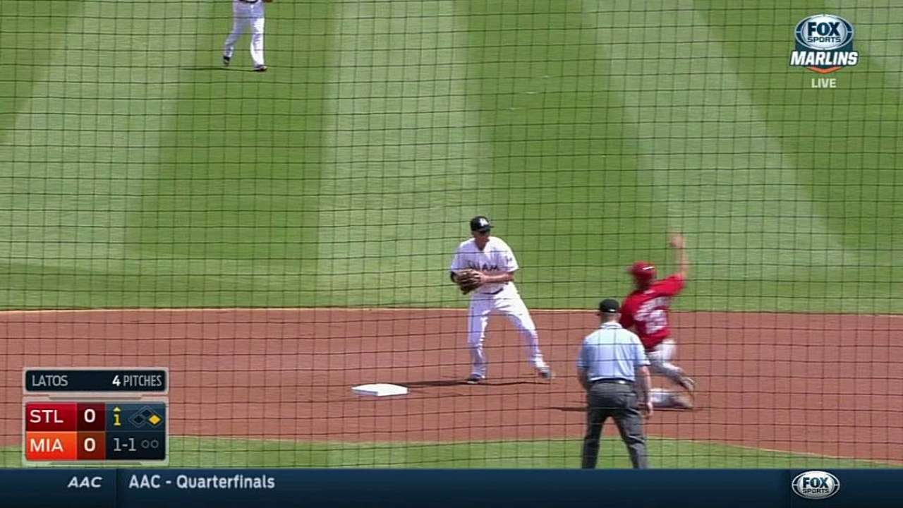 Baker starts double play