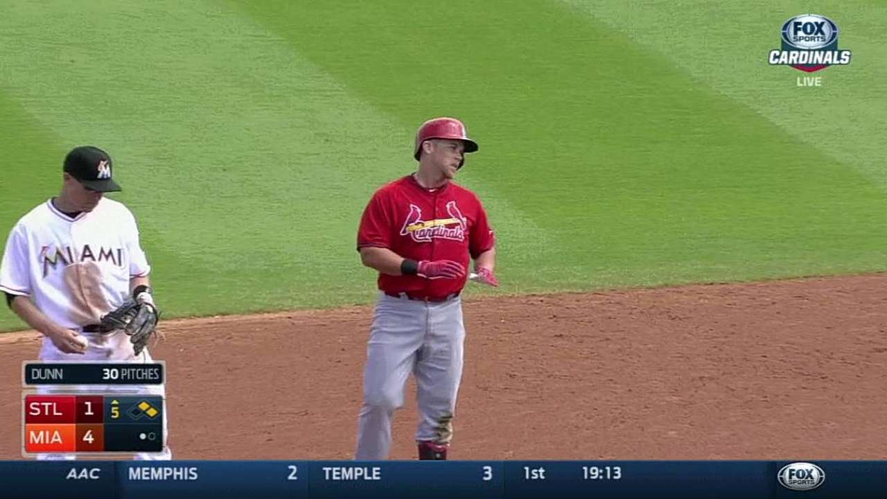 Two hits each for Kozma, Piscotty vs. Marlins