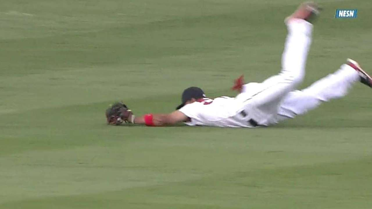 Betts' diving catch