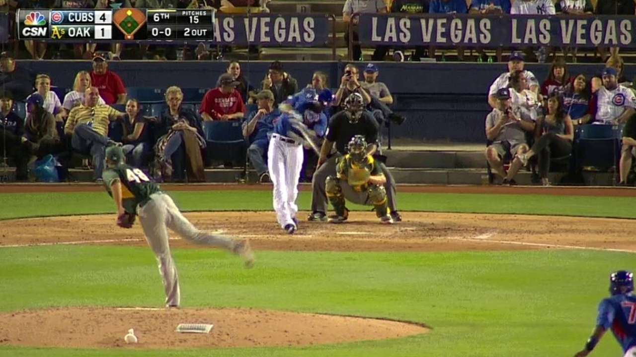 Arrieta steady over four innings; Fowler, Russell fuel offense
