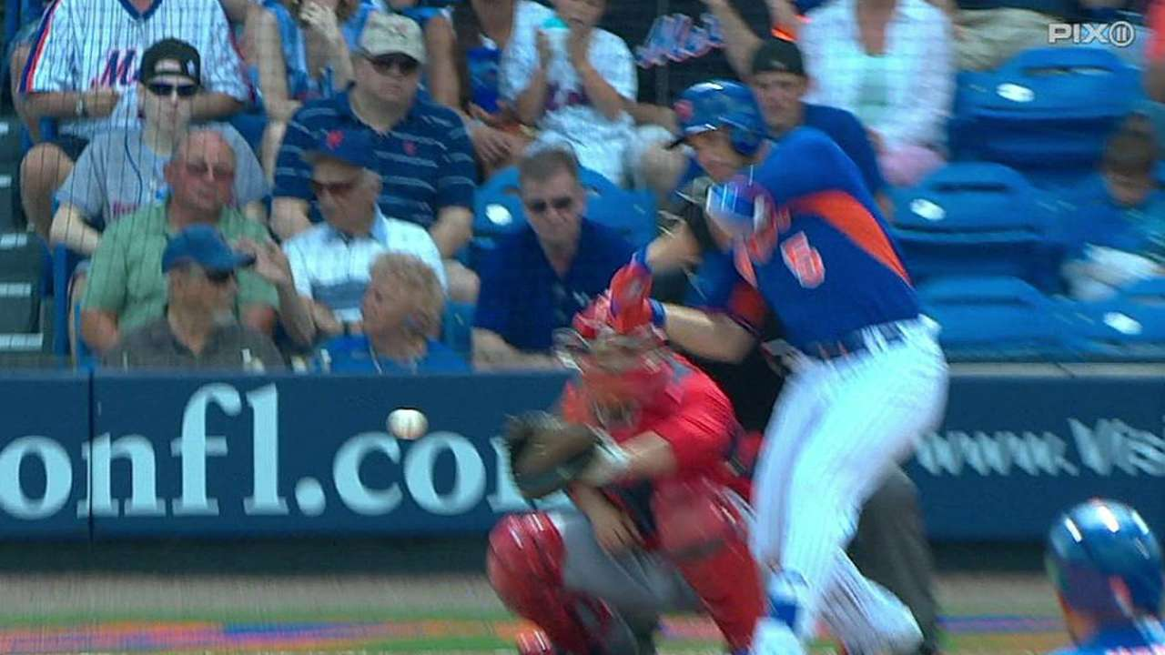 Wright hits one of three Mets homers against Nationals