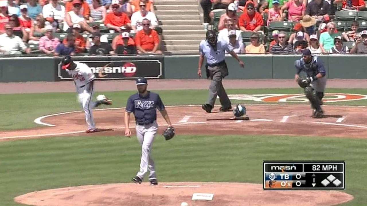Karns makes pitch for Rays' rotation
