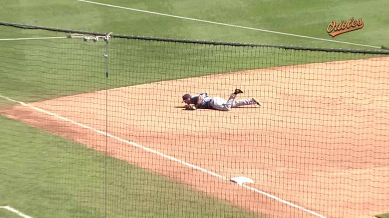 Motter's diving catch