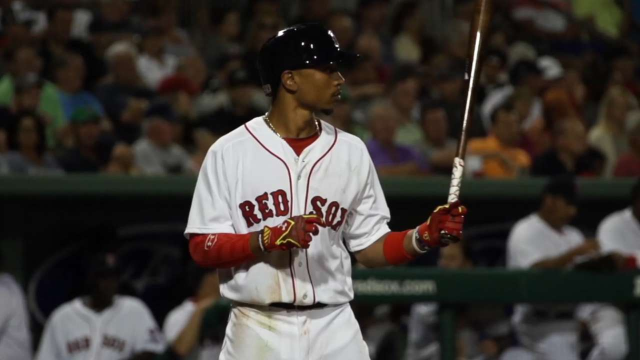 Betts the story of spring for Red Sox
