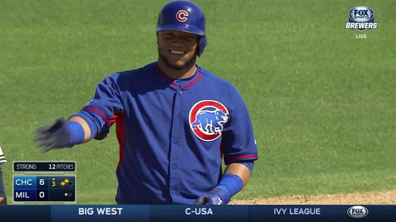 Cubs break out for seven-run frame in win over Crew