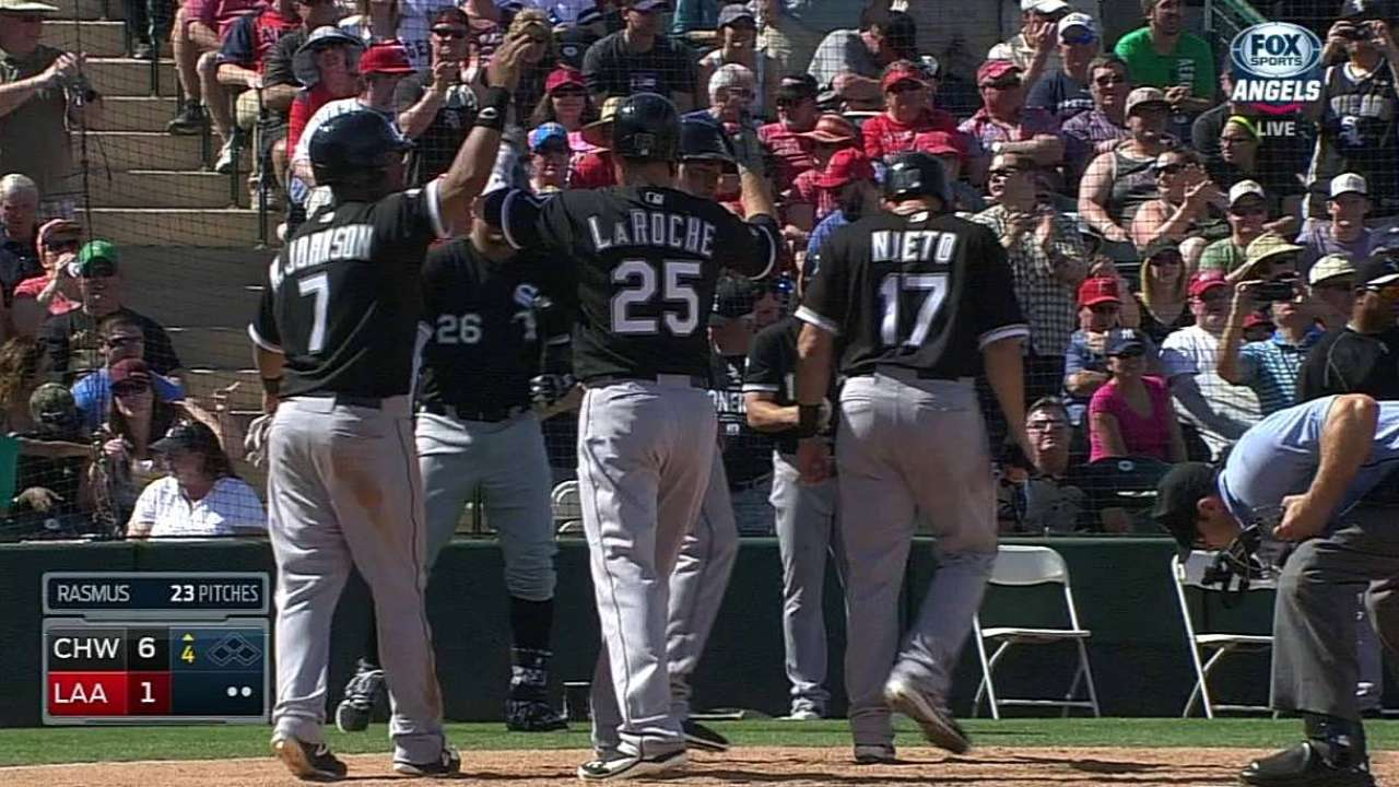 LaRoche's first Sox homer a slam in win over Halos