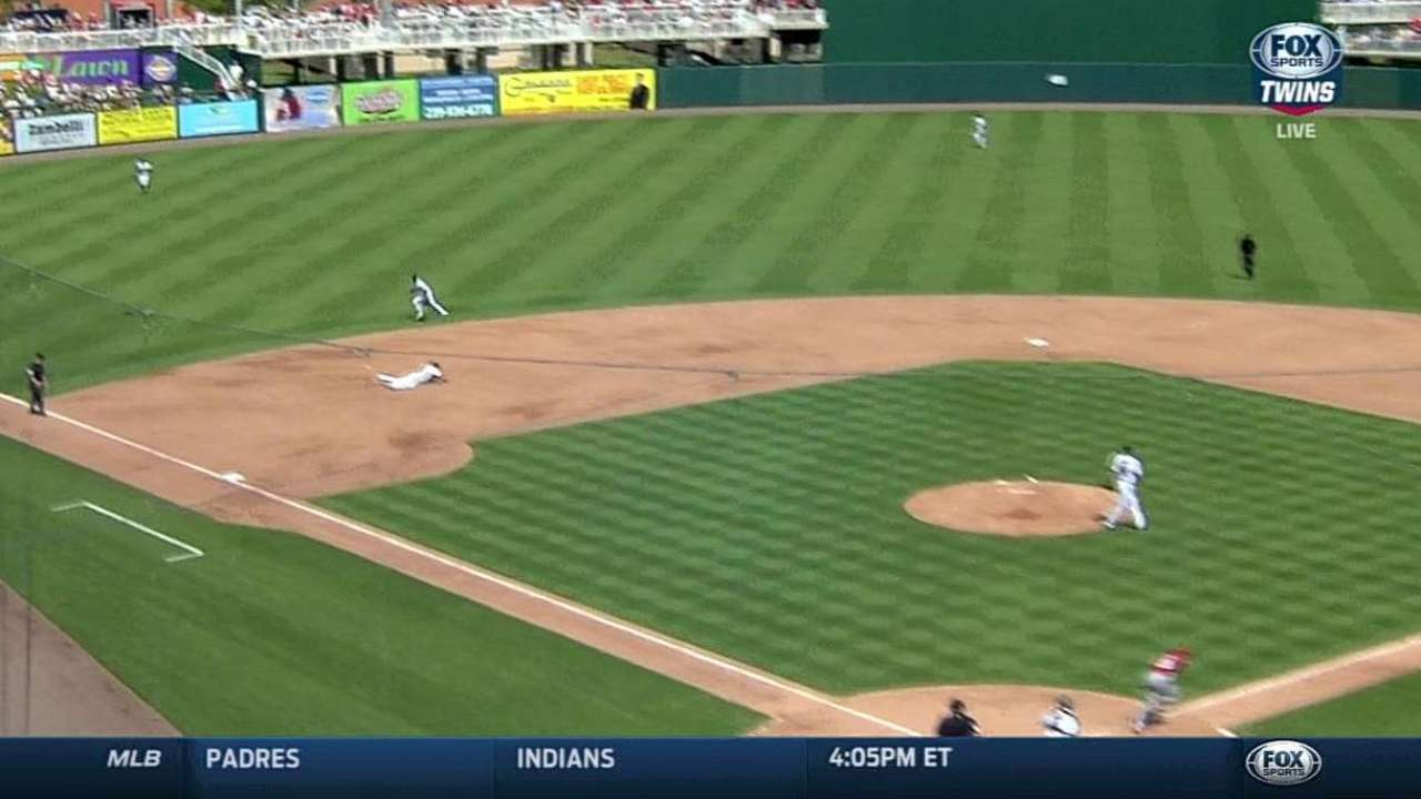 Plouffe's diving stop