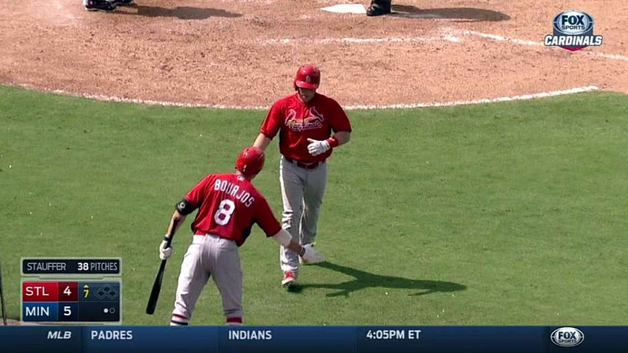 Cards rally for tie after Martinez's tough outing