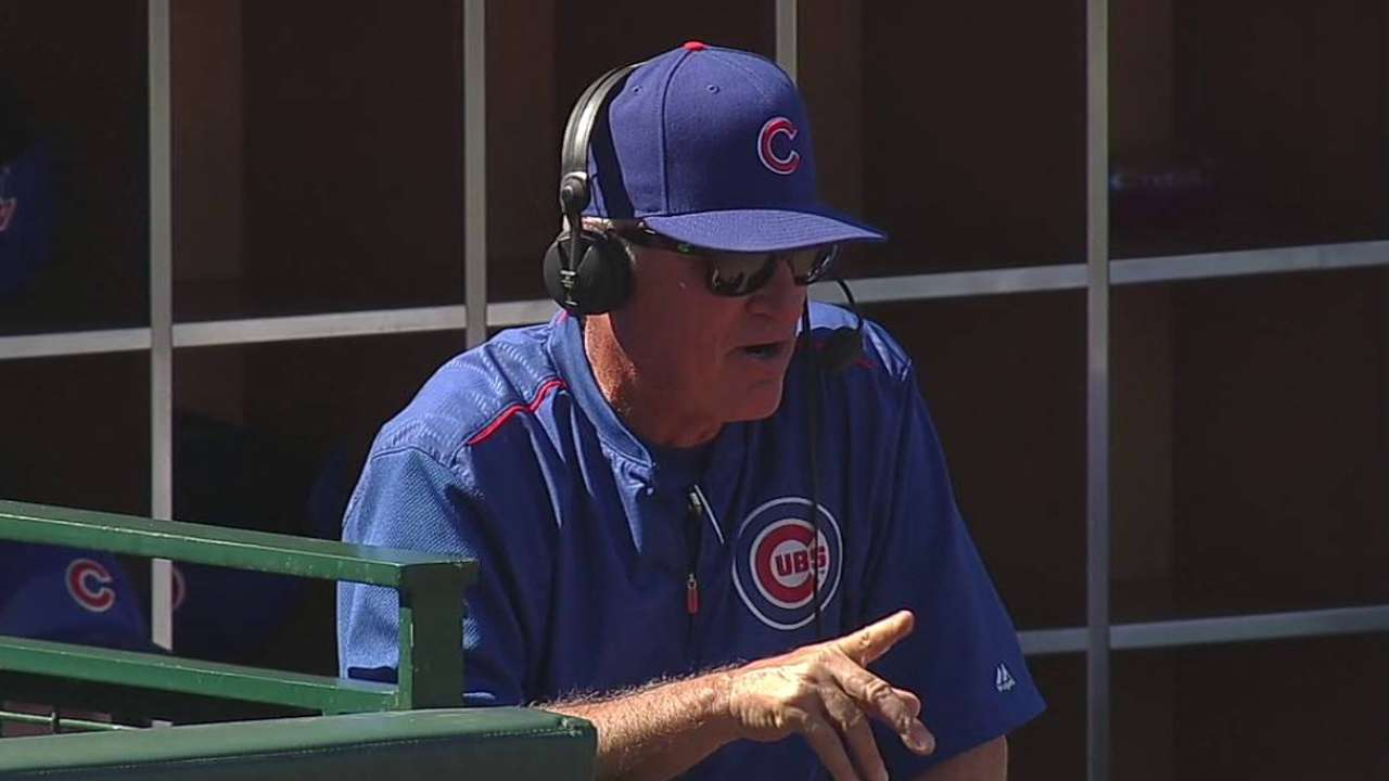 Maddon encourages Cubs to aim high on defense