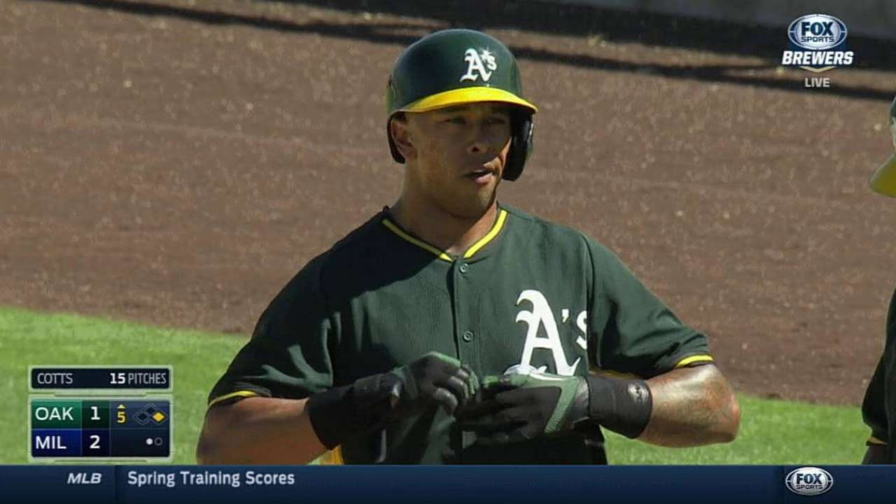 Gray, Ladendorf shine against Brewers