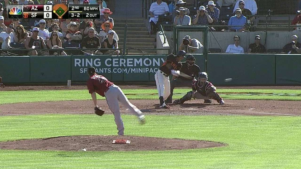 Strong Giants pitching subdues D-backs