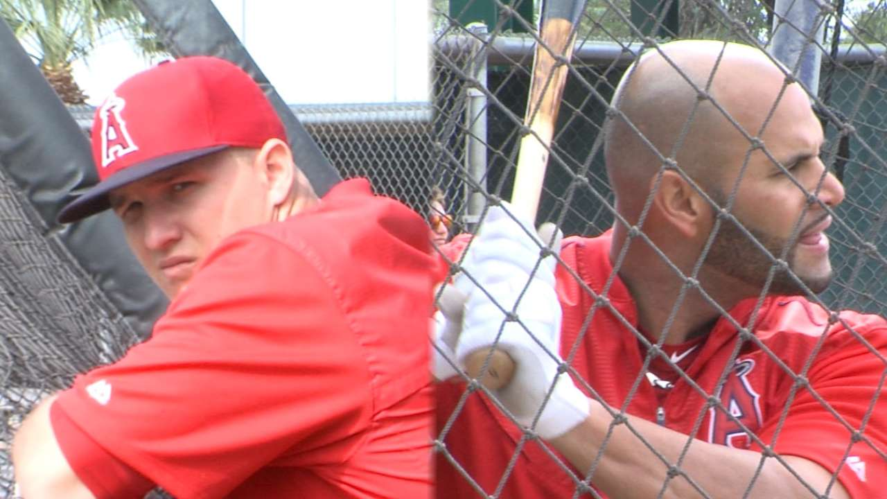 Pujols, Trout feed off each other with strong bond
