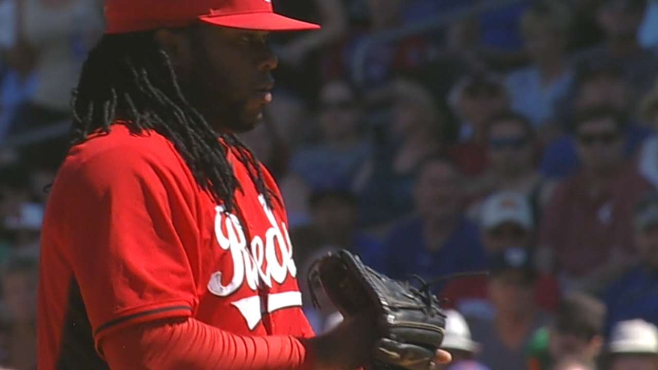 Cueto on his outing vs. Cubs
