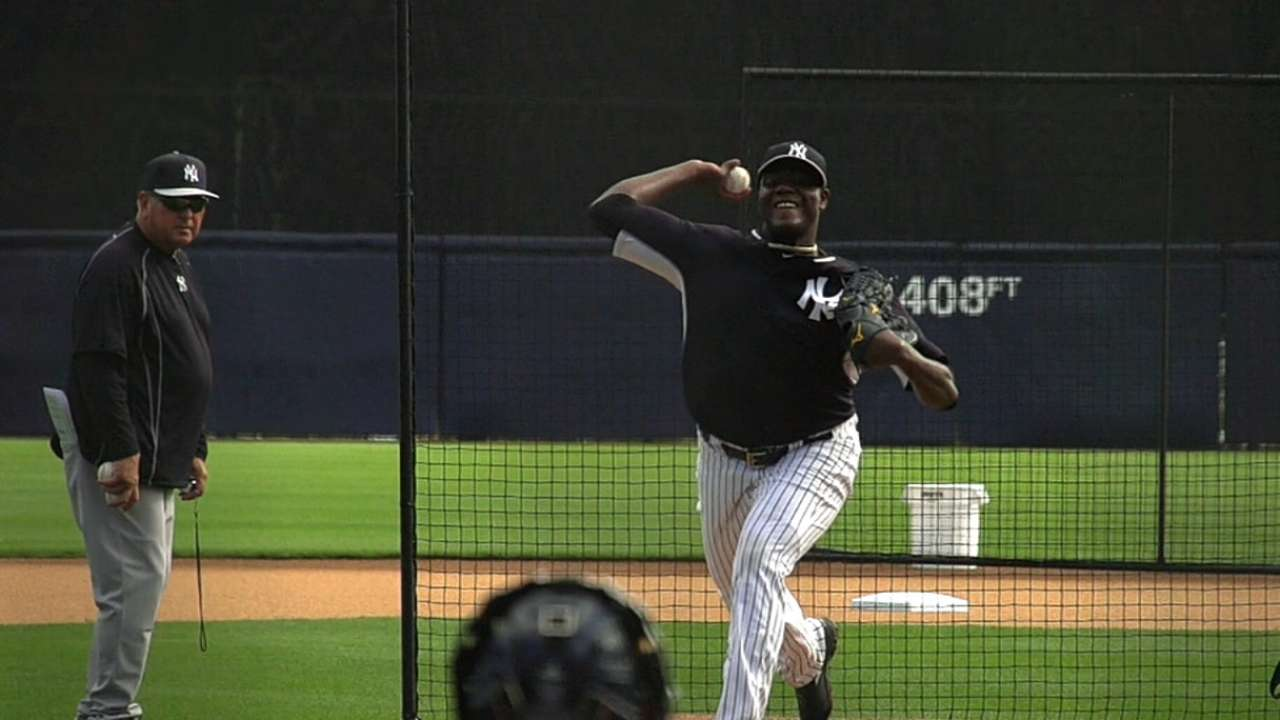Pineda recovers after shaky start before Yanks rally